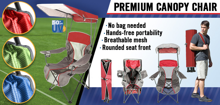 Kelsyus Premium Canopy Chairs - portable camping chairs with shade!