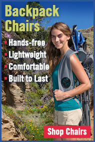 Kelsyus Backpack Chairs - Hands-free portability, lightweight, comfortable, and built to last.