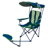 Original Canopy Chair with Ottoman - Navy/Lime