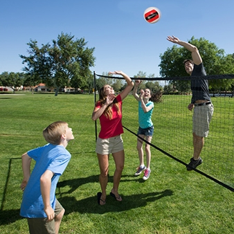Badminton Volleyball Combo Lawn Game