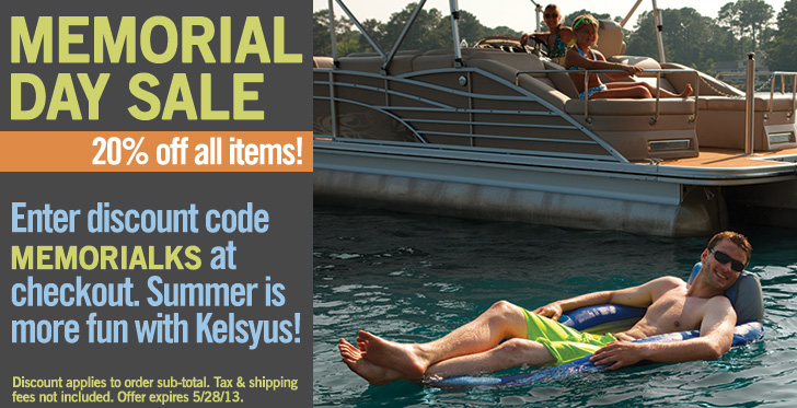 Memorial Day Sale: Save 20% on all items at Kelsyus.com when you enter discount code MemorialKS at checkout.